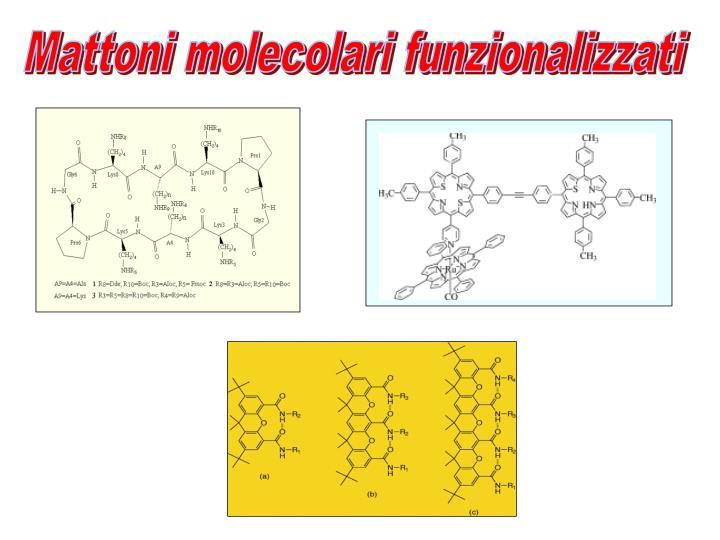 Mattoni molecolari funzionalizzati
