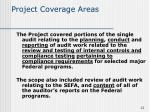 project coverage areas