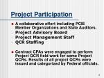 project participation