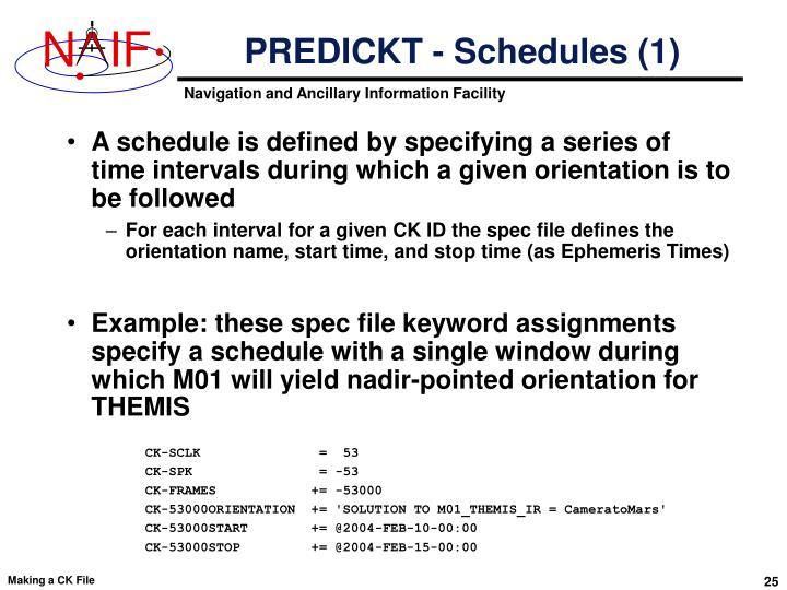 PREDICKT - Schedules (1)