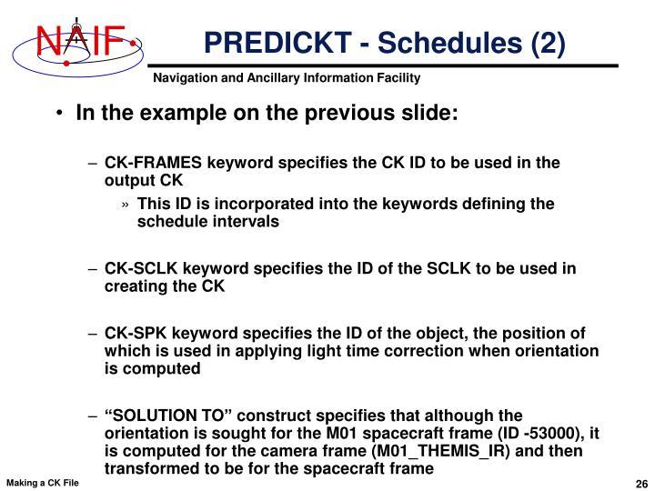 PREDICKT - Schedules (2)