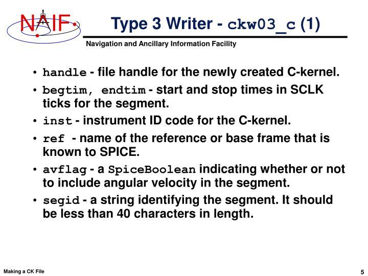 Type 3 Writer -
