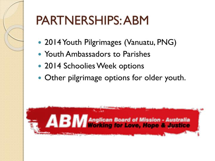 PARTNERSHIPS: ABM