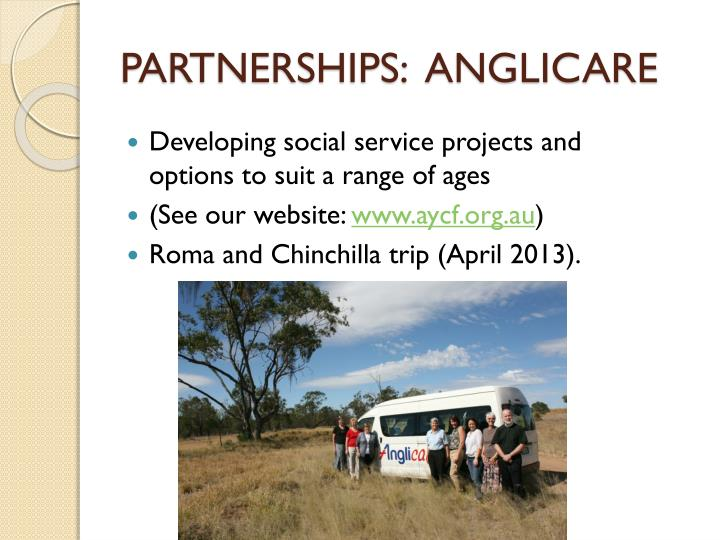 PARTNERSHIPS:  ANGLICARE