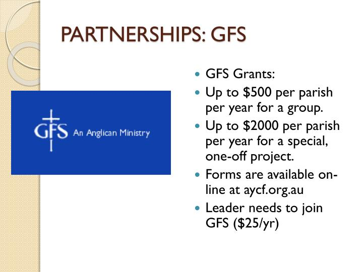 PARTNERSHIPS: GFS