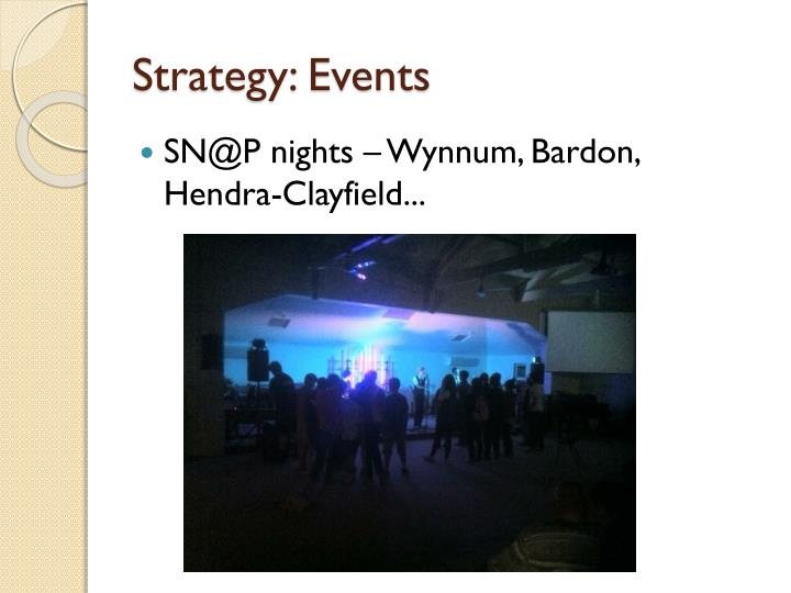Strategy: Events