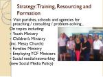 strategy training resourcing and formation