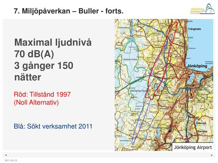 7. Miljöpåverkan – Buller - forts.