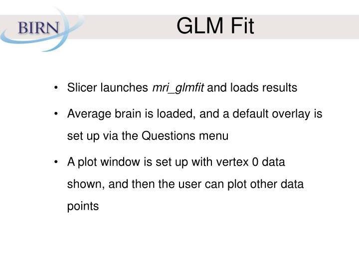 GLM Fit