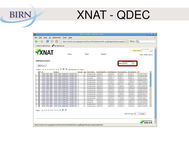 XNAT - QDEC