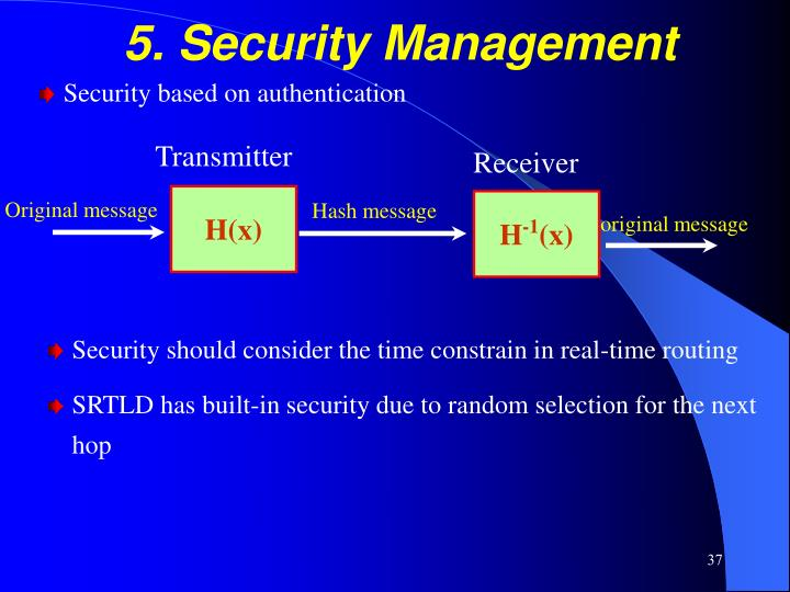 5. Security Management