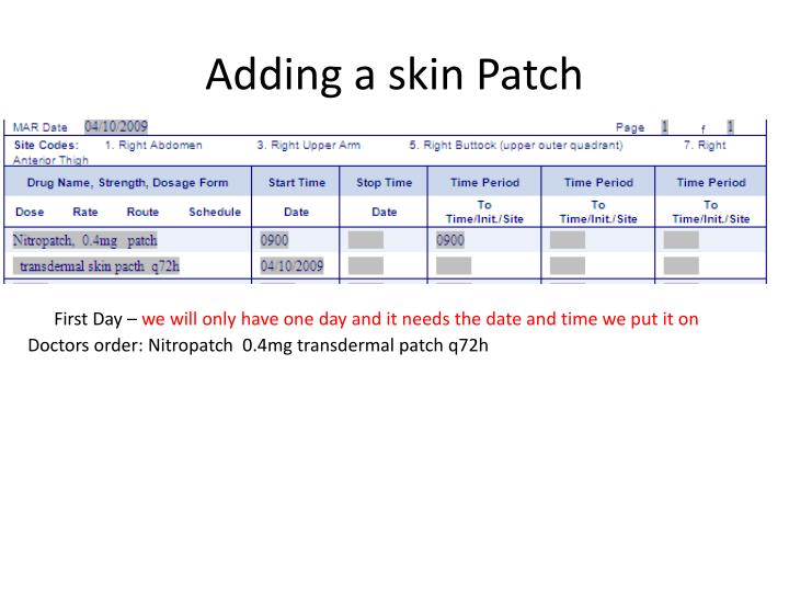 Adding a skin Patch