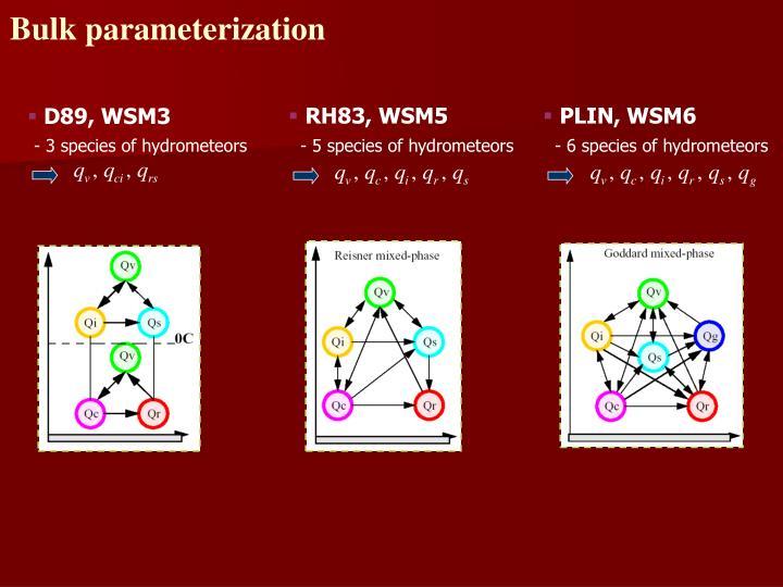 Bulk parameterization