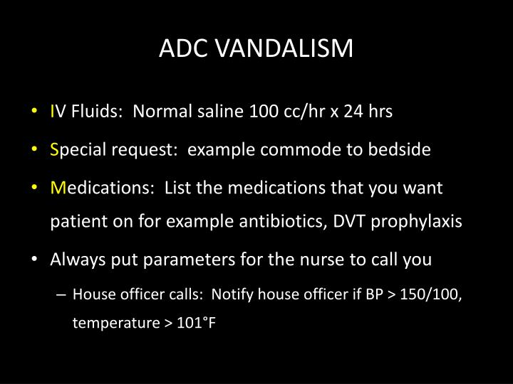 ADC VANDALISM