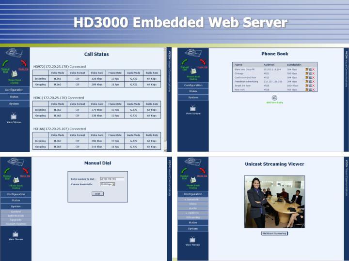 HD3000 Embedded Web Server