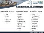 vocabulaire li au temps