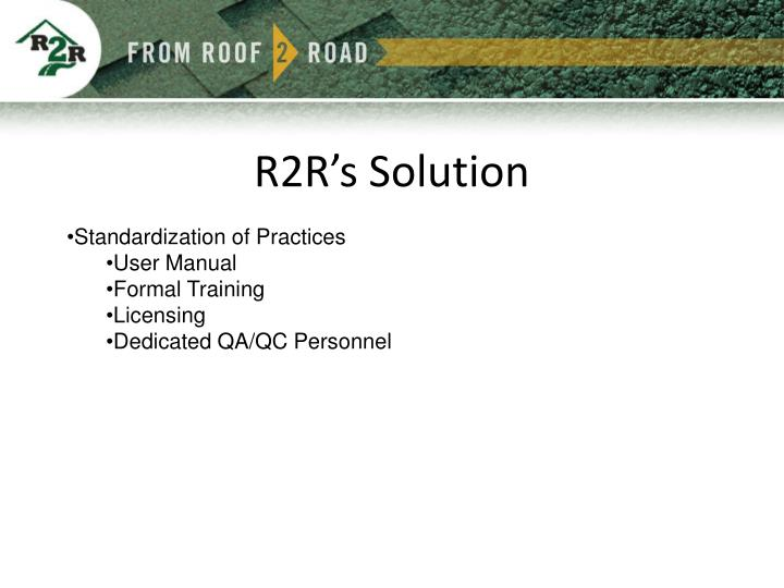 R2R's Solution
