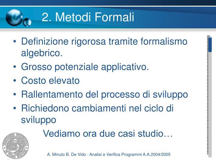 2. Metodi Formali