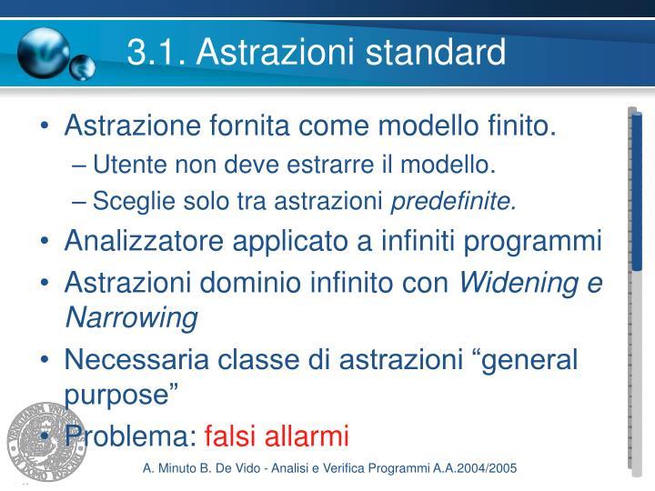 3.1. Astrazioni standard