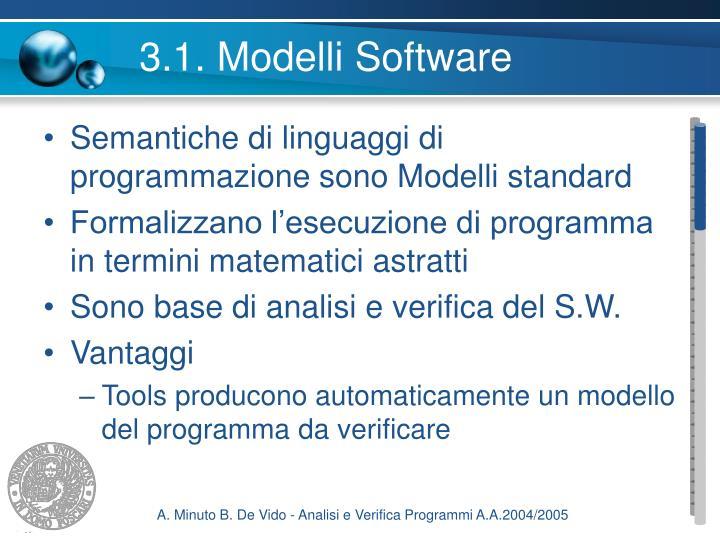 3.1. Modelli Software