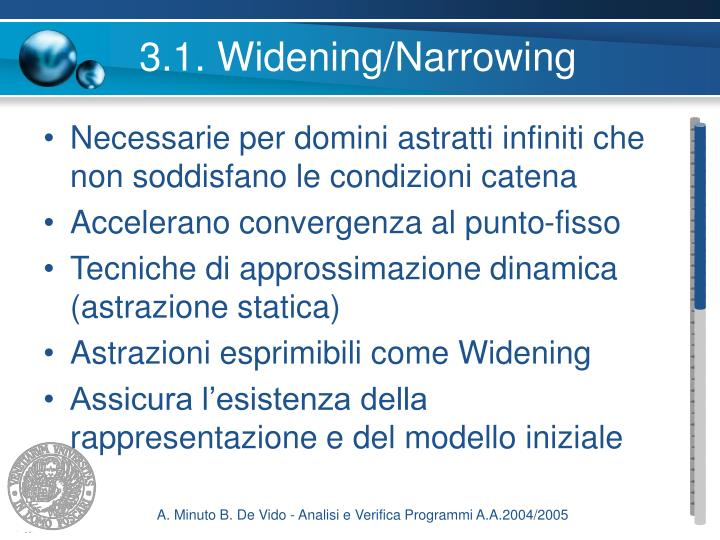 3.1. Widening/Narrowing