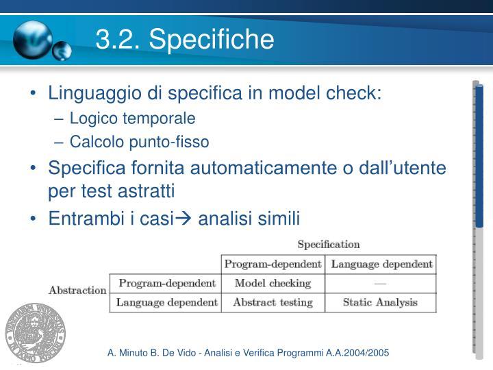 3.2. Specifiche