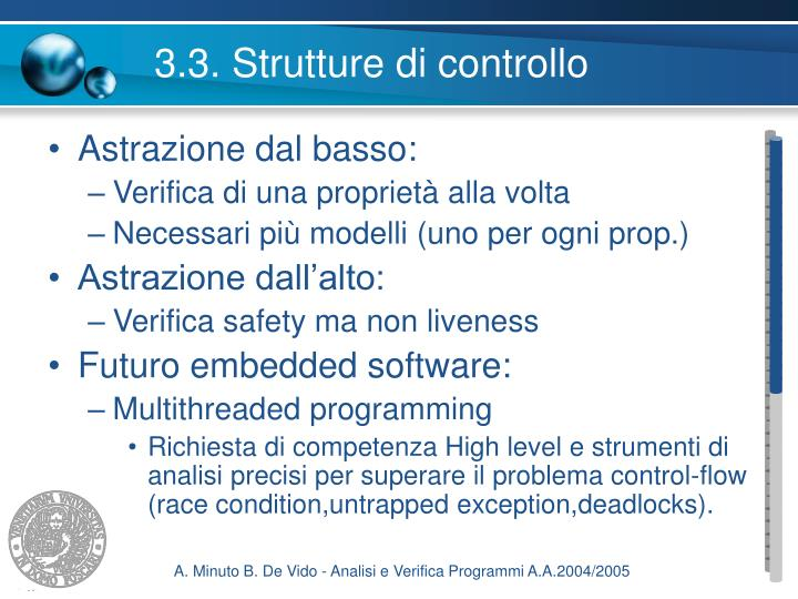 3.3. Strutture di controllo