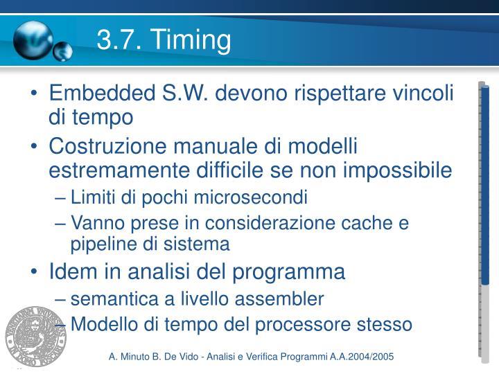 3.7. Timing