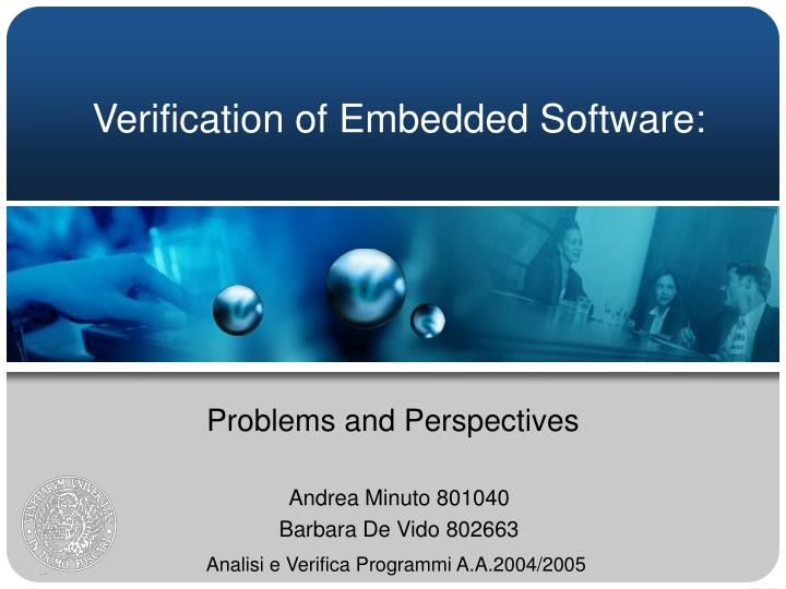Verification of embedded software