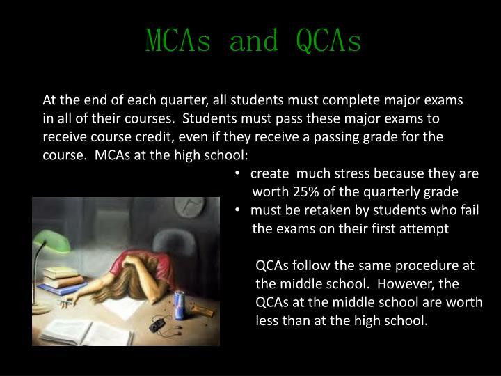 MCAs and QCAs