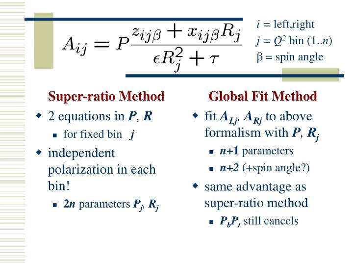Super-ratio Method