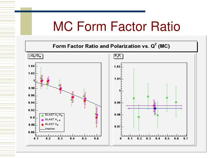 MC Form Factor Ratio