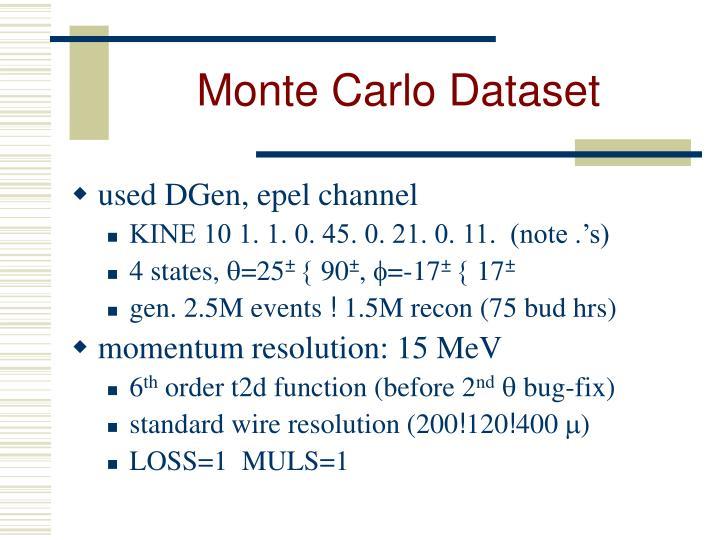 Monte Carlo Dataset