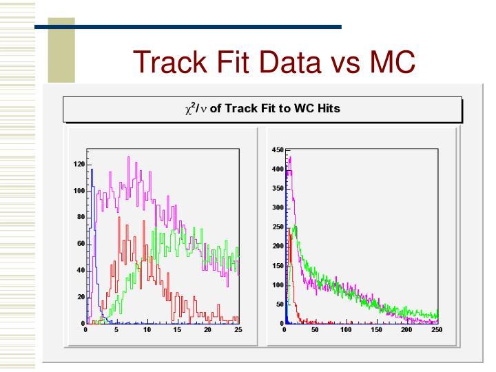 Track Fit Data vs MC