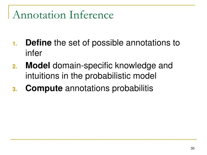 Annotation Inference