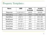 property templates