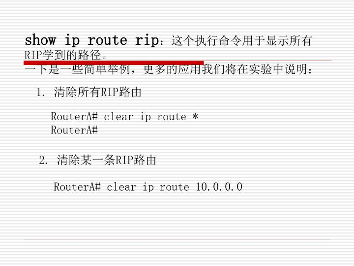 show ip route rip