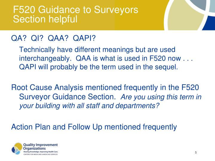 F520 Guidance to Surveyors Section helpful