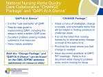 national nursing home quality care collaborative change package and qapi at a glance