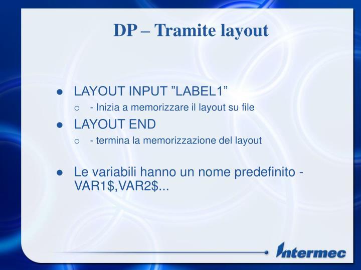 DP – Tramite layout