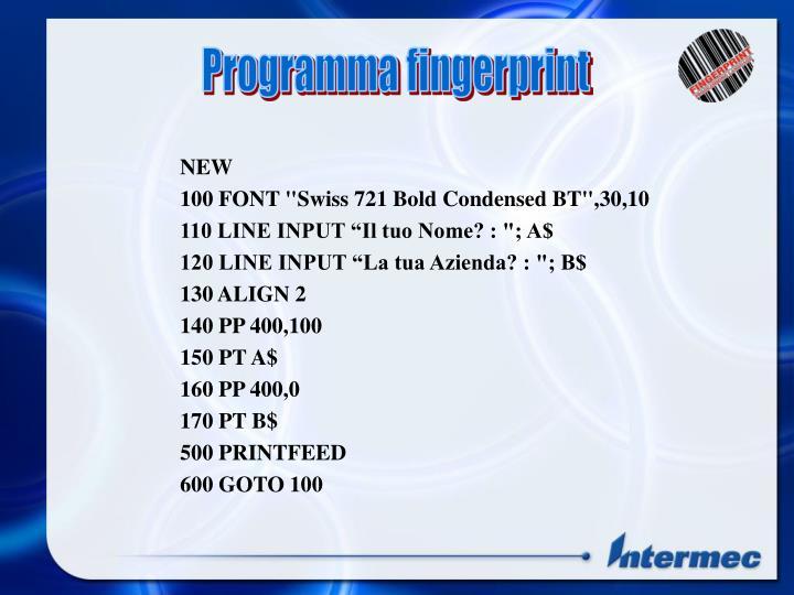 Programma fingerprint