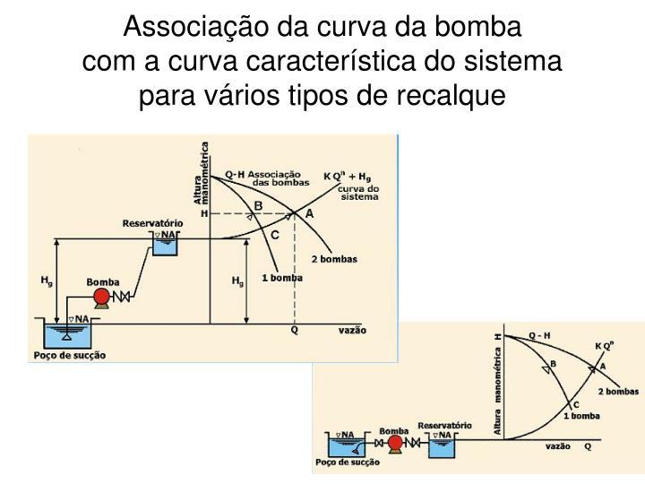 Associação da curva da bomba