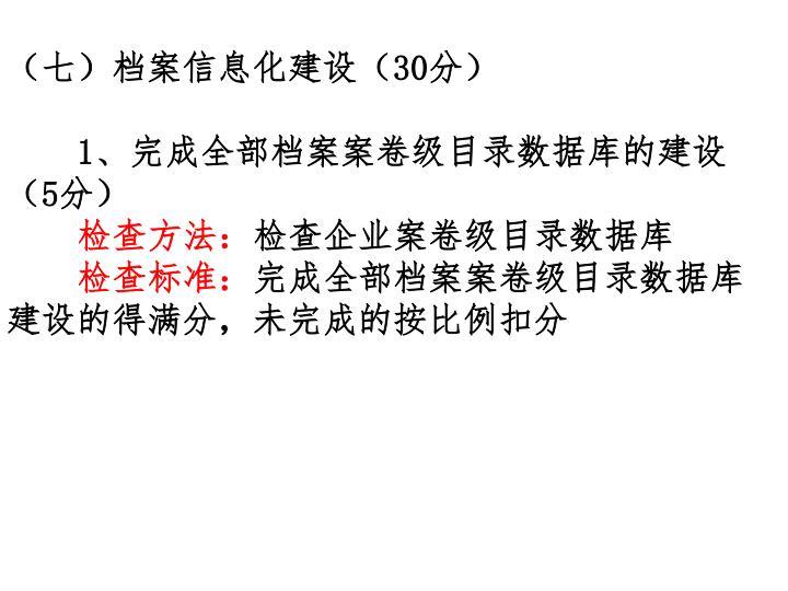 (七)档案信息化建设(