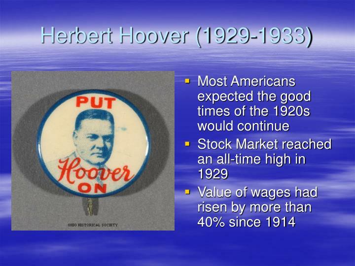 Herbert Hoover (1929-1933)