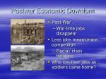 postwar economic downturn