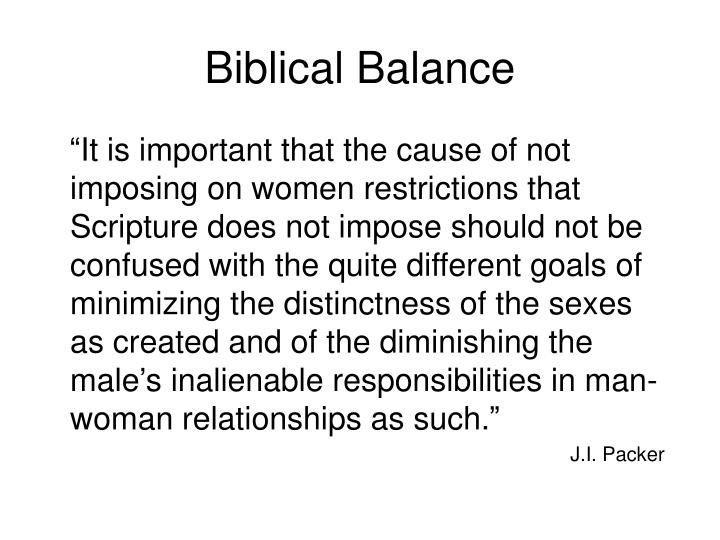 Biblical Balance
