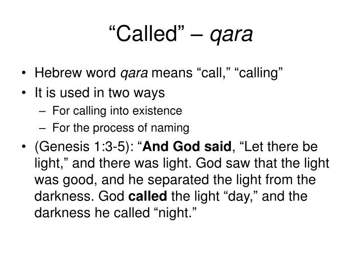 """Called"" –"
