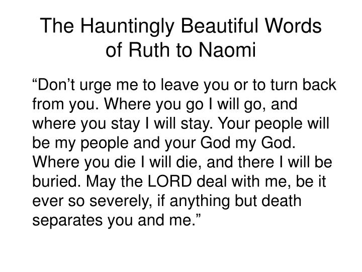 The Hauntingly Beautiful Words
