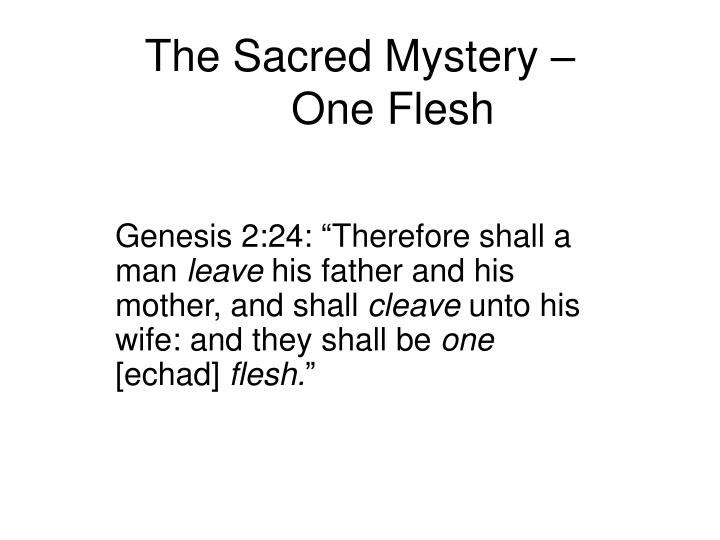 The Sacred Mystery –