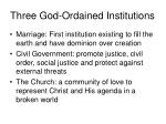 three god ordained institutions